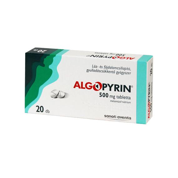 Mozsonyi Patika - ALGOPYRIN 500MG TABLETTA 20X