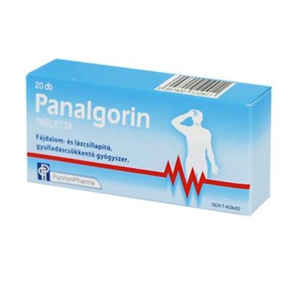 Mozsonyi Patika - PANALGORIN 500MG TABLETTA 2X10 BUB
