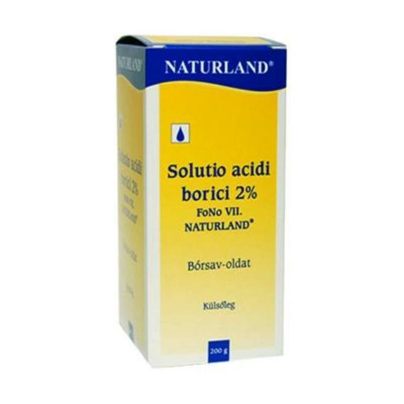 Mozsonyi Patika - SOLUTIO ACIDI BORICI 2 % FONO VII NATURLAND TK 200G