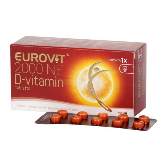 Mozsonyi Patika - EUROVIT D-VITAMIN 2000NE TABLETTA 60X 60X